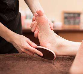 足の角質ケア