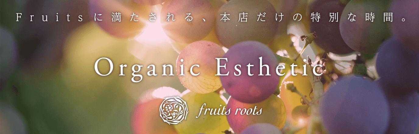 Fruitsに満たされる、本店だけの特別な時間。Organic Esthetic